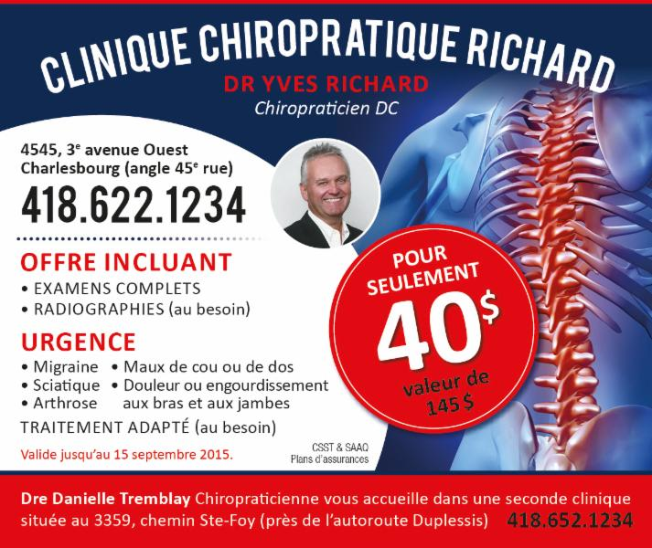 Promotion - Clinique Chiropratique Richard
