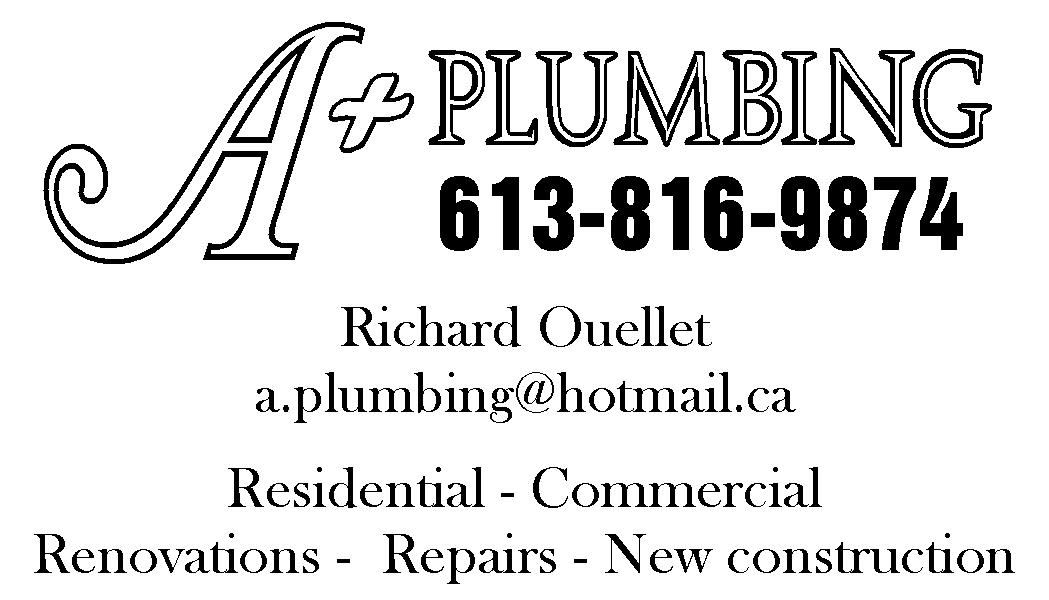 A+ Plumbing - Plombiers et entrepreneurs en plomberie - 613-816-9874