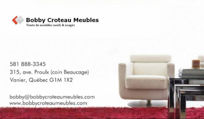 Bobby croteau meubles qu bec qc 315 av proulx canpages for Meuble croteau charlesbourg