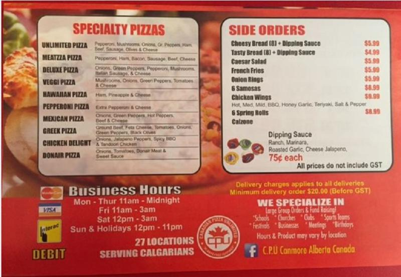 Canadian Pizza Unlimited - Photo 3