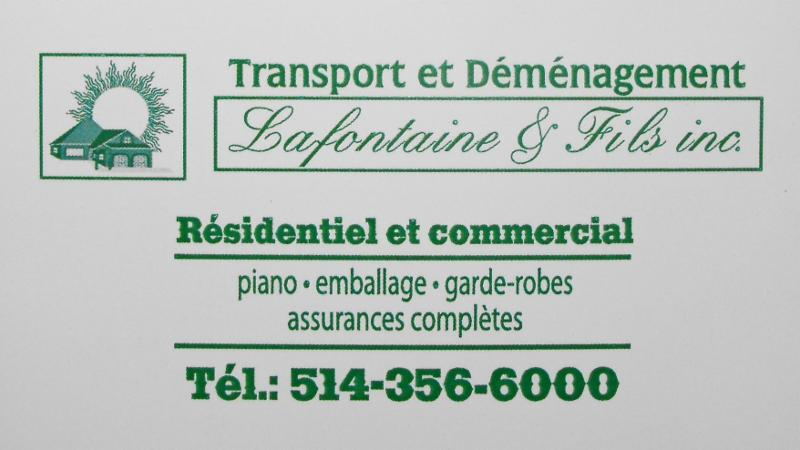 Transport Et Déménagement Lafontaine & Fils Inc - Photo 3