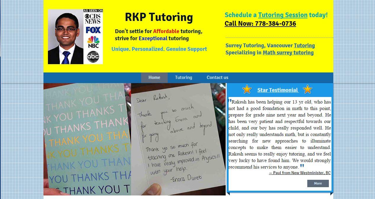 RKP Tutoring - Conseillers d'affaires - 778-384-0736
