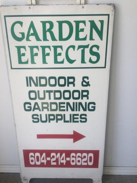 Our sign - Garden Effects
