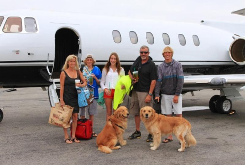 Family & group private charter flights