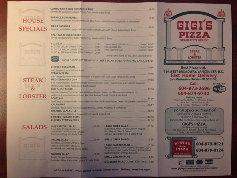 Gigi's Pizza & Spaghetti House - Photo 3