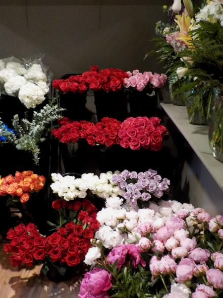 Buckets Flowers has an enormous selection of colors of roses.  Most of our are imported to ensure very large blooming flower heads.