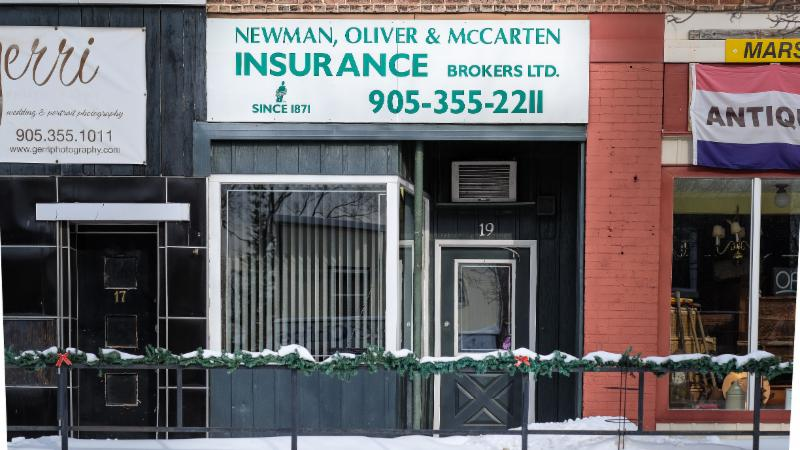 Newman Oliver Amp Mccarten Insurance Brokers Colborne On 19 King St E Canpages