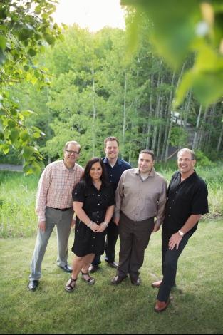 Dr. Ian Miller, Dr. Don Miller, Dr. Christopher Miller, Dr. Michael Lettich, and Clinic Director Jennifer Andrews