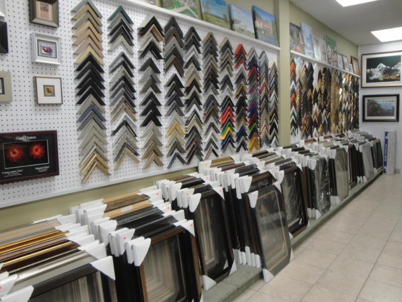 modern painting framing shop photo