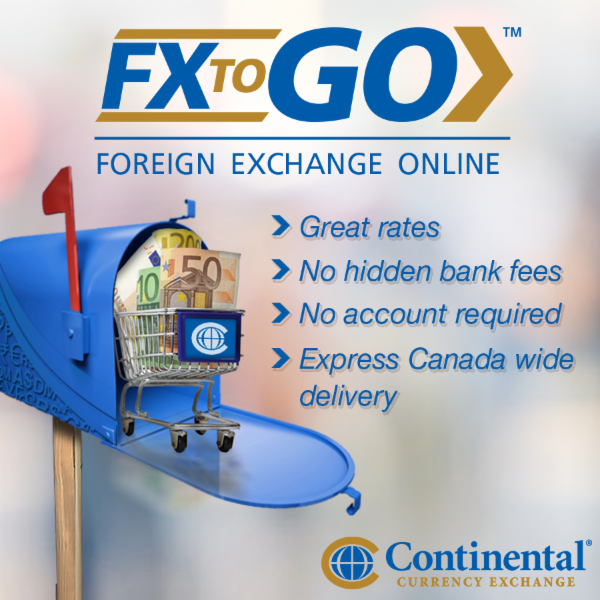 Buy currency online from the comfort of your own home for nationwide delivery or convenient pick up at your nearest Continental Currency location.
