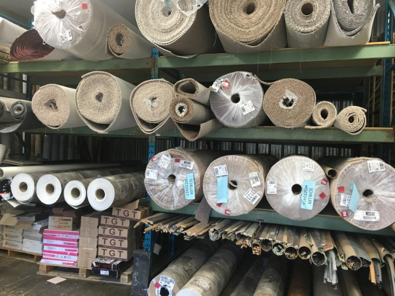 carpet and lino warehouse rolls