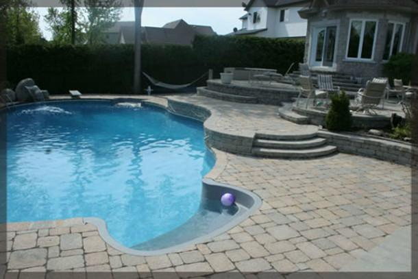 Pool Landscaping & Water Features          Build your own oasis with pool landscaping and various water features. Ottawa Pavemaster provides interlocking stonework, waterfalls, fountains, and stone steps to enhance the beauty of your pool and landscaping.