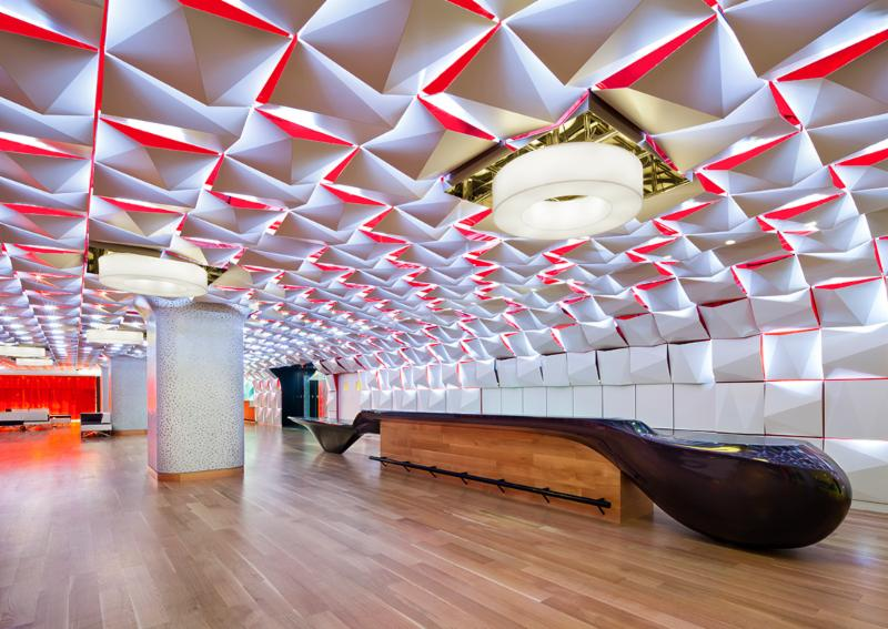 Aménagement commercial, architecture - Salon urbain, Place des arts, Montréal