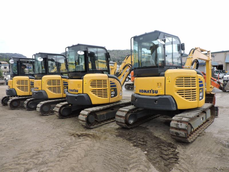 4 Komatsu PC40's Call us for more Information (250)493-4545 or visit us at www.prequip.com!