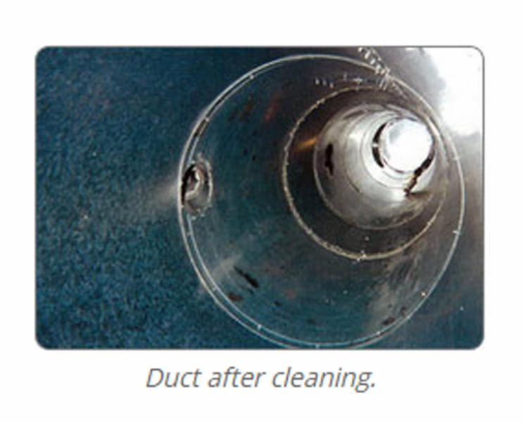 Duct after cleaning