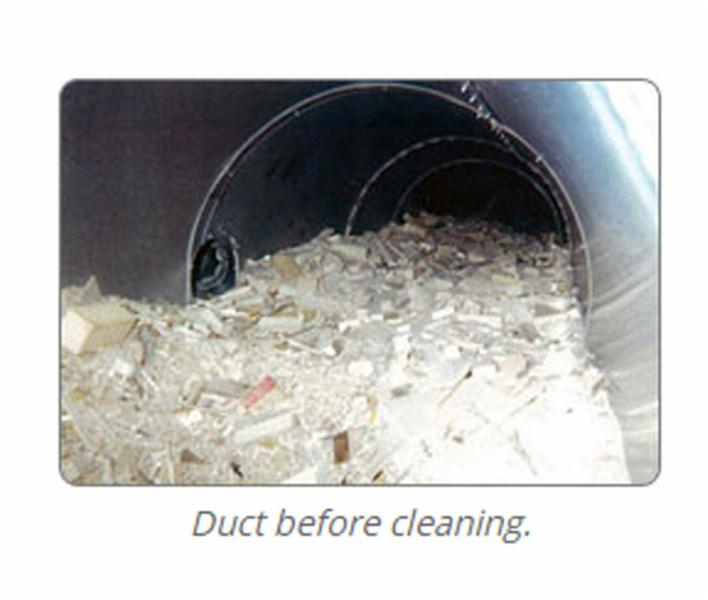 Duct before cleaning