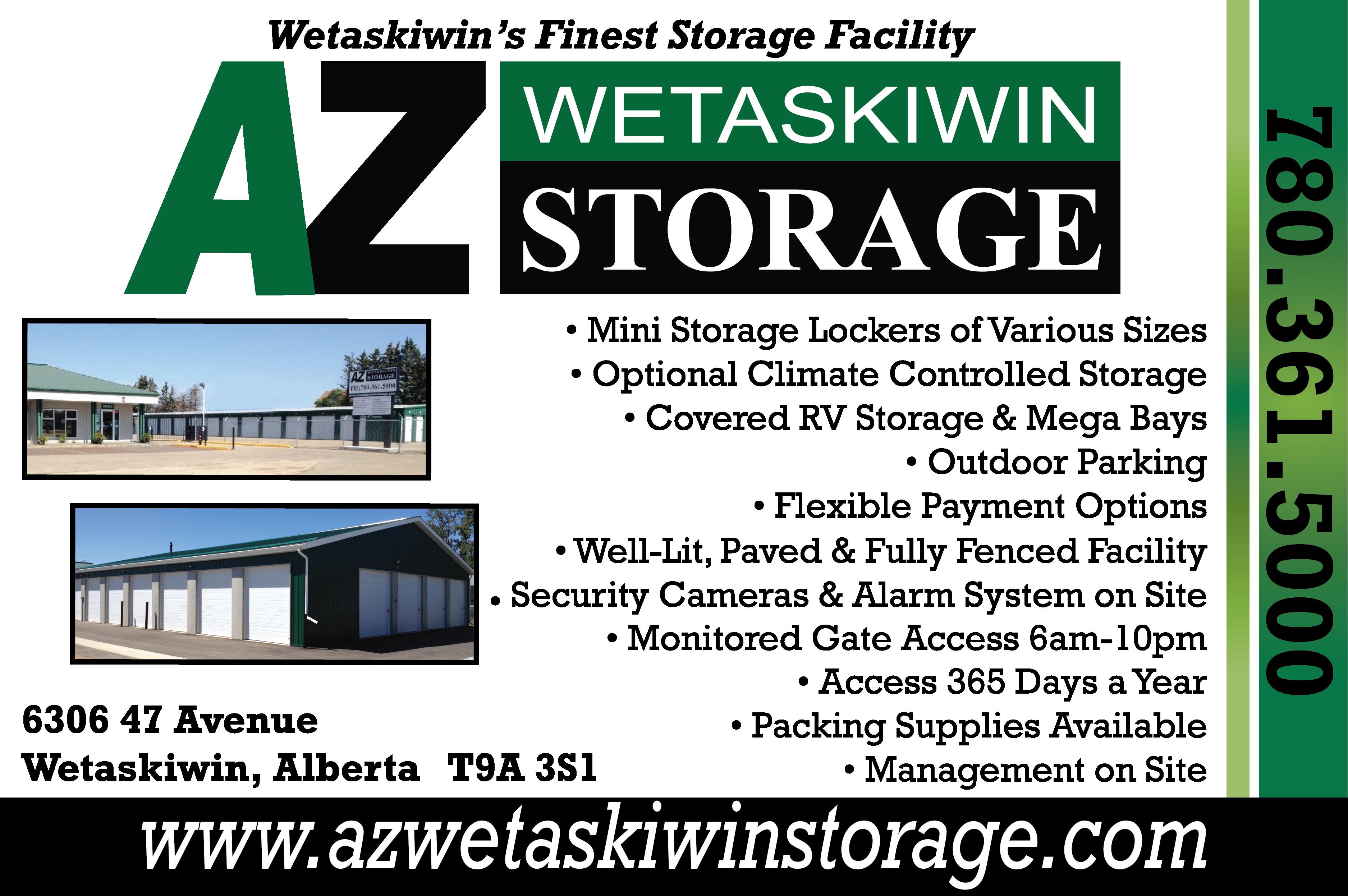 AZ Wetaskiwin Storage - Self-Storage - 780-361-5000