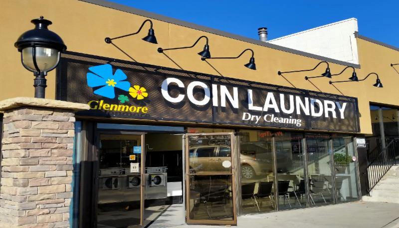 Glenmore Coin Laundry & Dry Cleaning - New Sign from Oct.2015