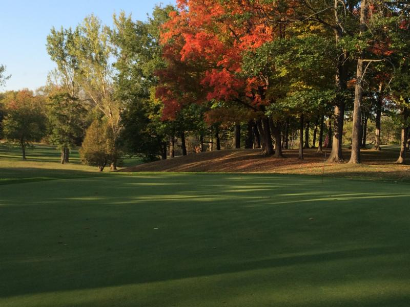 Hole 12 in the Fall