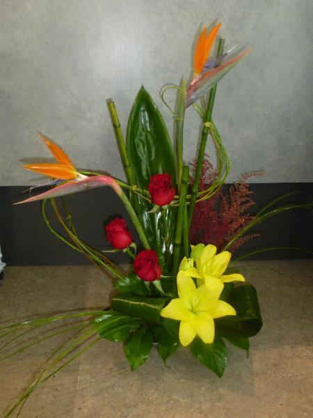 Montage de fleurs naturelles