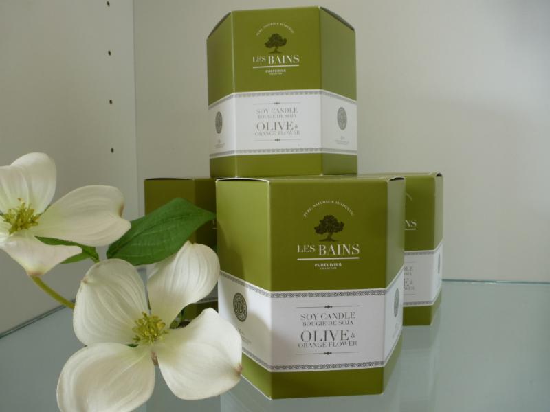 Bougies parfumées  Les Bains par pureliving (produit Québécois)