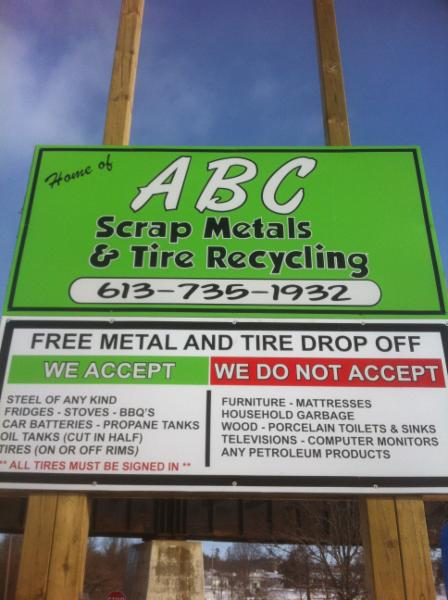 Abc scrap metals tire recycling pembroke on 2 for Abc salon sire directory