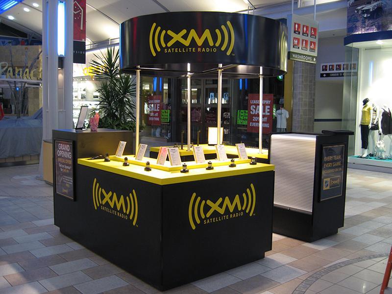 XM Radio Retail Booth