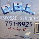D.B.L. Disposal Service - Residential Garbage Collection - 250-751-8923