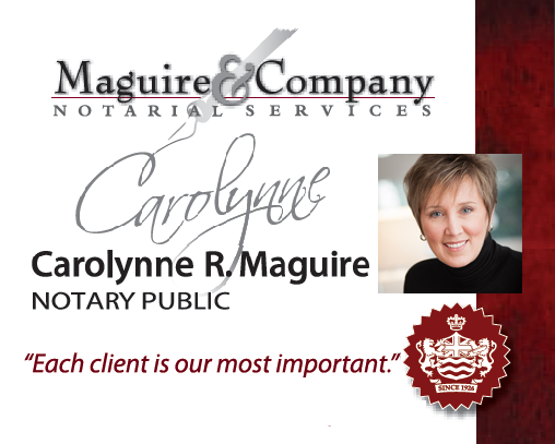 Carolynne R. Maguire     Notary Public