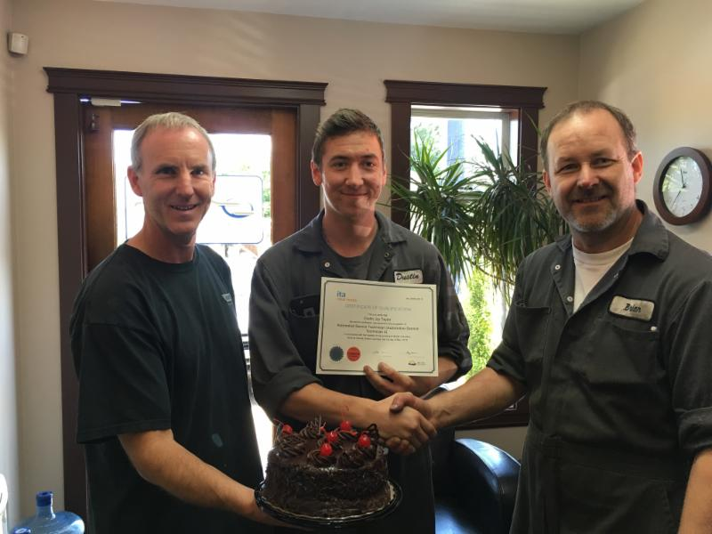 Congratulations to Dustin on completing his Automotive Technician Apprenticeship and receiving his Red Seal Certificate this Spring!