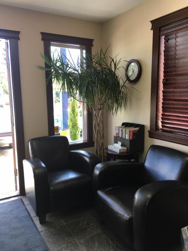 You are welcome to wait in our office, have a coffee and read while you wait for your vehicle or you can stroll down 5th Street and do some shopping!