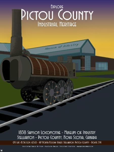 1838 Samson Locomotive     Museum of Industry Stellarton Pictou Co