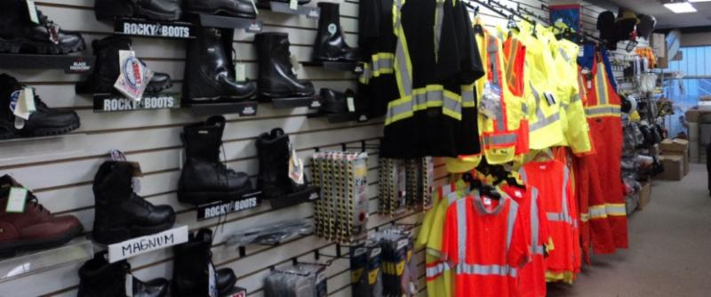 We offer head to toe safety products supplying items such as footwear, eye protection, hearing products, respirators, hard hats, safety gloves and first aid kits.