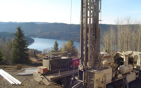 drill site above Lac de Roche