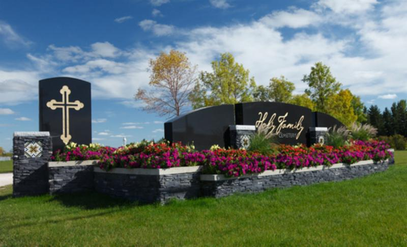 One of the largest 5 piece granite signs installed in North America
