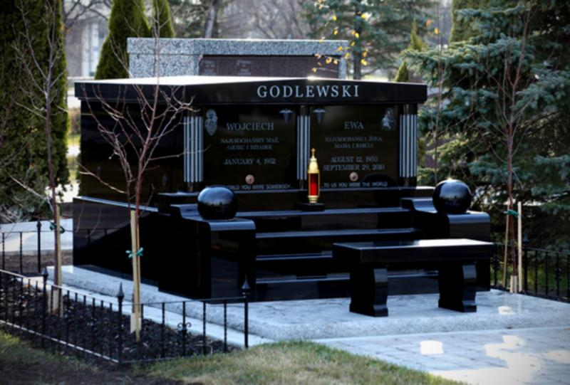 All granite mausoleum installed in St. Boniface cemetery