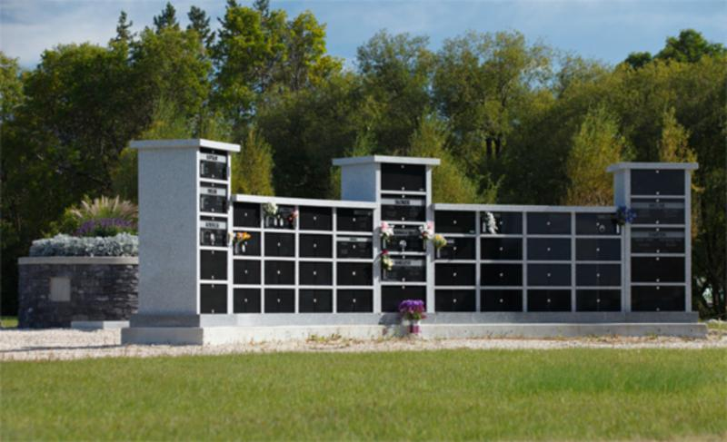 188 niche columbarium installed in Holy Family cemetery.