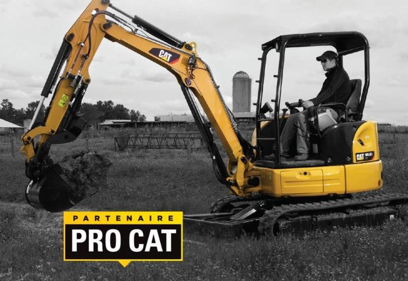 Maintenant partenaire avec CATERPILLAR, nous pourrons désormais vous offrir tout les équipements CAT dont vous avez besoin