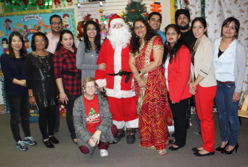 Christmas Celebration with Staff Members