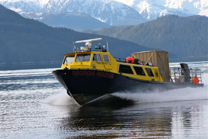 Our 38 Passenger vessel called the Georgia Master making a crew run in Kitimat.