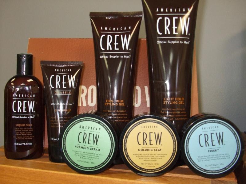 Produits fixant AMERICAN CREW : gel, pâte FIBER, crème coiffante FORMING     SUPERGLUE     LIQUID WAX