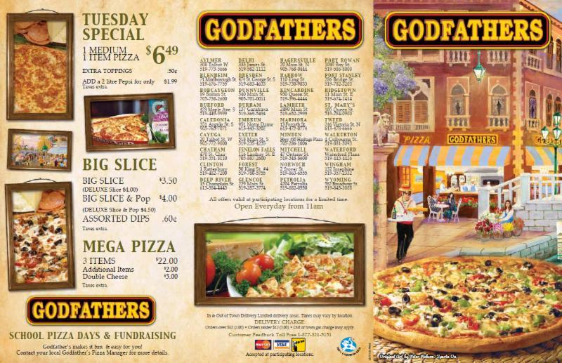 Godfather's Pizza Nixa Menu - View the Menu for Godfather's Pizza Springfield on Zomato for Delivery, Dine-out or Takeaway, Godfather's Pizza menu and prices. Godfather's Pizza Menu.