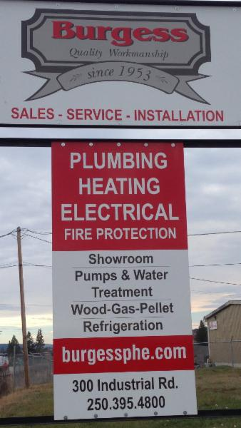 Burgess plumbing heating electrical co ltd 100 mile for Forest grove plumbing