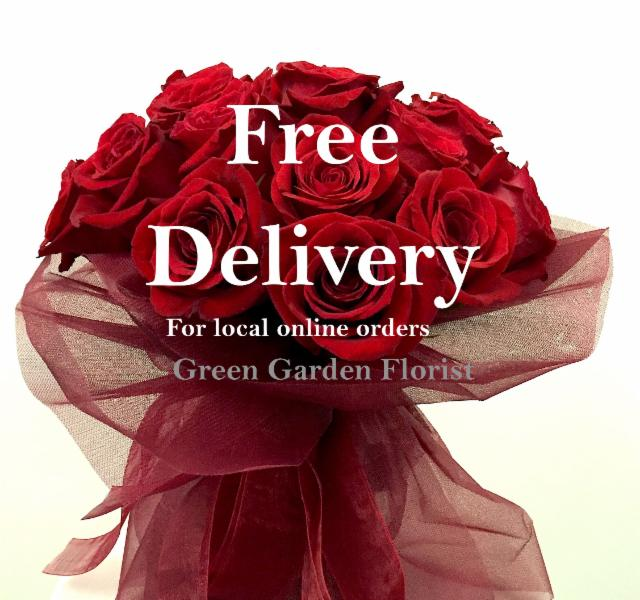 Free Flower Delivery for online local orders.