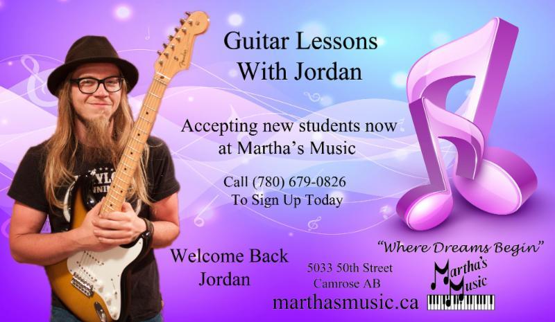 Les leçons de musique sont disponibles pour piano, violon , batterie, guitare acoustique ou électrique et guitare basse . Appelez (780) 679-0826 pour vous inscrire.