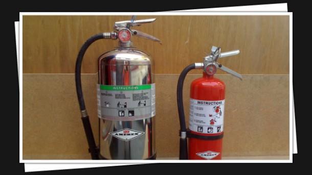 K Class & 5lb ABC Fire Extinguishers