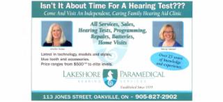 photo Lakeshore Paramedical Hearing Services