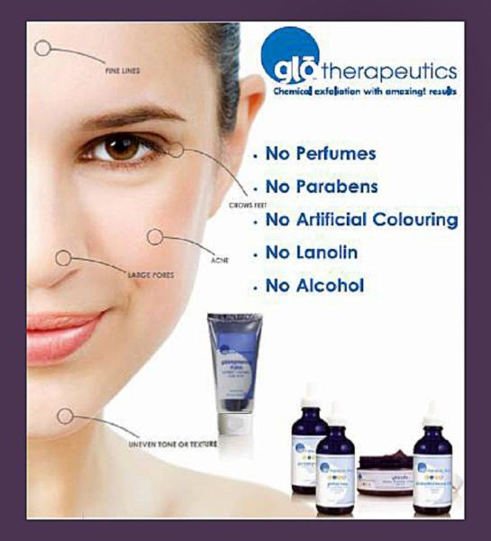 Glo therapeutics-chemical peels, facials, skincare