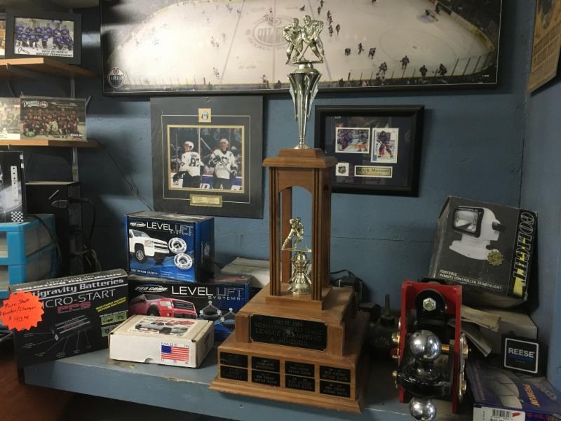 Bighorn Spring & Brake sponsored Hockey Team won the finals in 2016