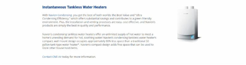 Instantaneous Tankless Water Heaters